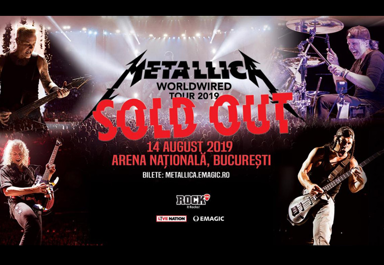 Metallica la Bucuresti 2019