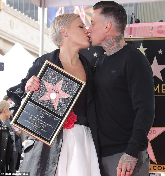 Pink and Hubby on Walk of Fame