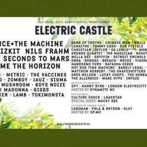 Electric Castle: Florence+The Machine, Thirty Seconds To Mars, Bring Me The Horizon, Limp Bizkit & many more!