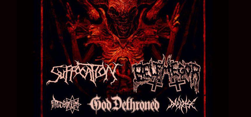 Suffocation, Belphegor si God Dethroned: Program si reguli de acces