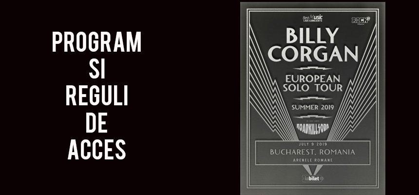Billy Corgan la Bucuresti: Program si reguli de acces!