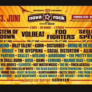 Nova Rock 2020: Foo Fighters, System of a Down, Offspring