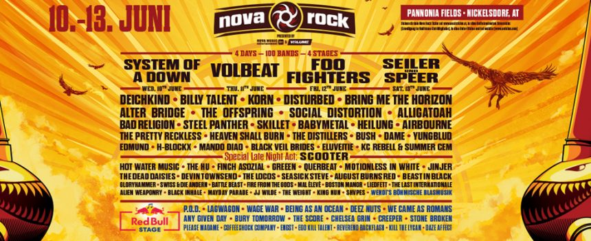Nova Rock 2020 – Afla ce trupe urca pe scena Redbull!