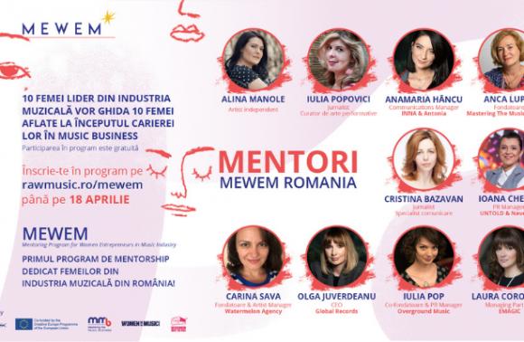 MEWEM- Primul program de mentorship dedicat femeilor din industria muzicala din Romania